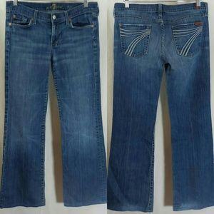 7 For All Mankind Dojo Trouser Jeans - Size 30